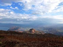 Landschaft des erloschenen Vulkans lizenzfreies stockfoto