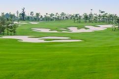 Landschaft des Golfplatzes Stockfotos