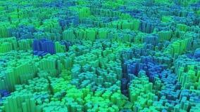 Landschaft des Hexagon-3D Stockfoto