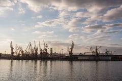 Landschaft des industial Seehafens Lizenzfreies Stockbild