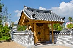 Landschaft des koreanischen Gartens Stockfotos