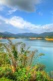 Landschaft des Mannes machte See an Verdammung Sungai Selangor während des Mittags Lizenzfreie Stockbilder