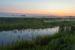 Landschaft des Morgensonnenaufgangs Lizenzfreies Stockbild