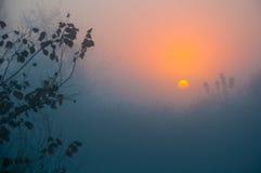 Landschaft des Morgensonnenaufgangs Stockbild