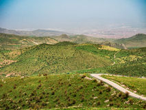 Landschaft des natürlichen Grünstreifens afyon Lizenzfreie Stockfotografie
