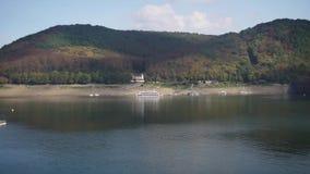 Landschaft des Naturschutzgebiets der deutschen Stadt nannte Hallenberg stock footage