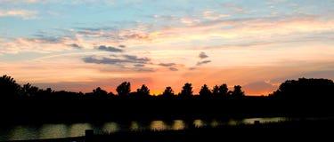 Landschaft des Pastellfarbhimmels Lizenzfreie Stockbilder