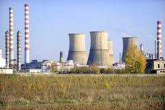 Landschaft des petrochemischen Werks Stockbilder