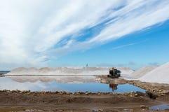 Landschaft des Salzbergwerks Sanlucar de Barrameda lizenzfreies stockbild