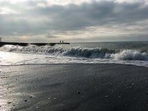 Landschaft des Schwarzen Meers und der Wellen Stockfoto