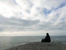 Landschaft des Schwarzen Meers und der Wellen Stockfotografie
