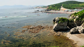 Landschaft des Seestrandes lizenzfreies stockfoto