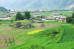 Landschaft des Shangri-La Tibetaners Stockbilder
