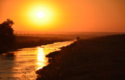 Landschaft des Sonnenaufgangs Stockfotografie