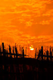 Landschaft des Sonnenuntergangs Lizenzfreies Stockbild