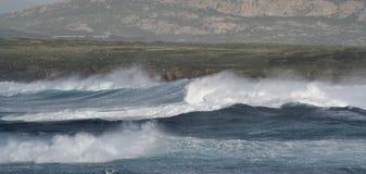 Landschaft des Sturms Stockfotos