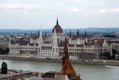 Landschaft des ungarischen Parlaments Stockbilder