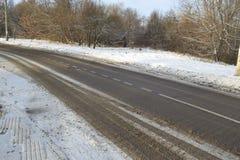 Landschaft des verschneiten Winters Stockfotografie