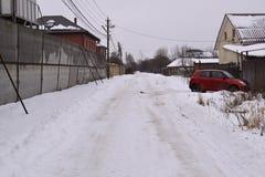Landschaft des verschneiten Winters Lizenzfreie Stockfotografie