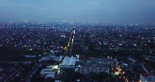Landschaft des Wohngebiets in Jakarta-Stadt stock video