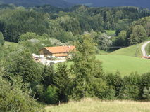 Landschaft in Deutschland Lizenzfreies Stockfoto