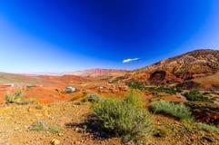 Landschaft durch Telouet in Marokko Stockbild