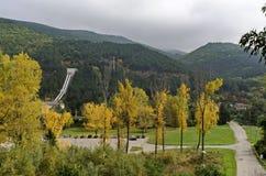 Landschaft durch VEZ Kokaliane im Herbst Lizenzfreie Stockfotos