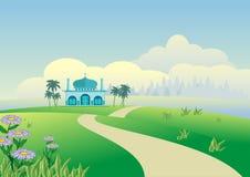 2015 Landschaft Eid Mubarak Background Stockbilder