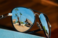 Landschaft in einem Glas Stockfotografie