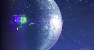 Landschaft einer Disco Discoballleuchten konzert szene stock video footage