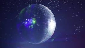 Landschaft einer Disco Discoballleuchten konzert szene stock footage