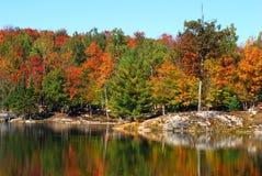 Landschaft eines Herbstes Stockfotografie