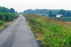 Landschaft entlang dem Po Stockfotos