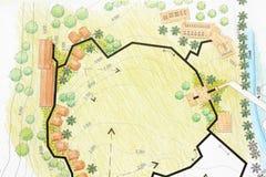 Landschaft entwirft Pläne für Erholungsort Lizenzfreies Stockfoto