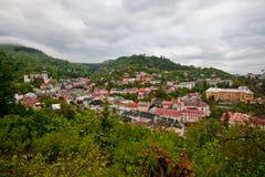 Landschaft für Banska Stiavnica stockbild