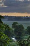 Landschaft am frühen Morgen Stockbild
