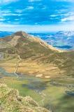 Landschaft gesehen von Los Lagos de Covadonga stockbild