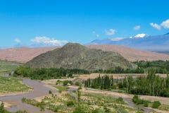 Landschaft grünen Tales Anden Stockfotografie