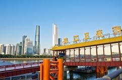 Landschaft Guangzhous Pearl River stockfotografie