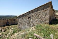 Landschaft-Gudar-Gebirgszug Aragonien Spanien Stockfotografie