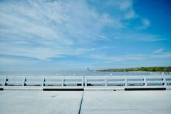 Landschaft am Hafen stockbilder