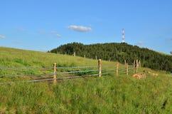 Landschaft, Himmel und Antenne Lizenzfreies Stockfoto