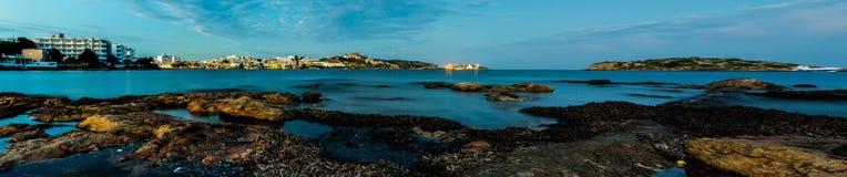 Landschaft in Ibiza Stockbild