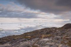 Landschaft in Ilulissat lizenzfreie stockfotos