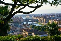 Landschaft im Arno-Fluss Lizenzfreie Stockfotografie