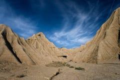 Landschaft im Bardenas Reales Stockbilder