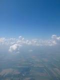 Landschaft im Flugzeug Stockfotos