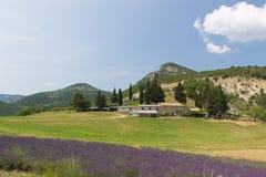 Landschaft im französischen Drome Stockfotos