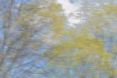 Landschaft im hellen Unschärfehintergrund Stockfotografie