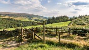 Landschaft im Nord-York macht, Großbritannien fest lizenzfreies stockbild